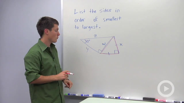 Triangle Side and Angle Inequalities - Problem 3