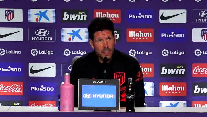 Simeone analizó las claves del Atleti-Valencia