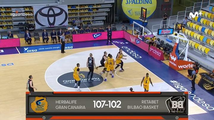 Liga Endesa: Herbalife Gran Canaria - RETAbet Bilbao Basket (107-102)