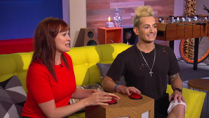 Frankie Grande and Mamrie Hart Buzz for a Celebrity Match: Trivial Takedown Sneak Peek