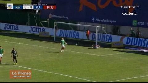 Video: El golazo de Mario Martínez que abrió el marcador en el Marathón - Platense.