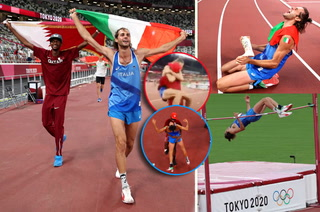 ¡Emotivísimo! Atletas empatan en salto de altura y deciden compartir el oro: sus reacciones maravillan