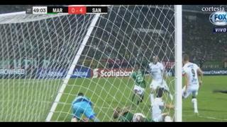 Doria anota el cuarto gol para Santos ante Marathón