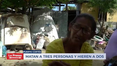 Matan a tres persona y hieren a dos en Puerto Cortés