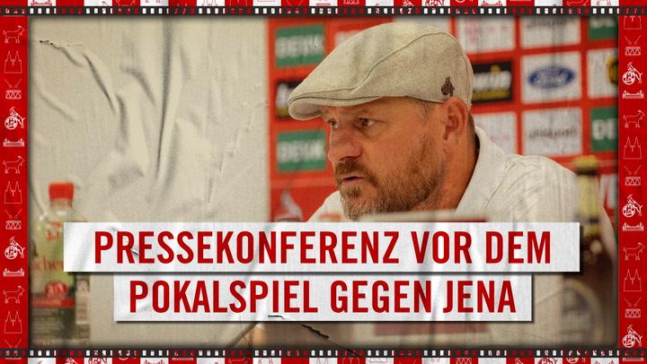 Pressekonferenz vor Jena