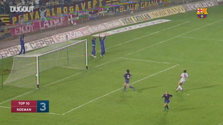 Ronald Koeman's top three goals at FC Barcelona