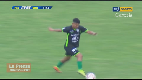 El golazo de Bryan Martínez (Marathón) contra el Platense