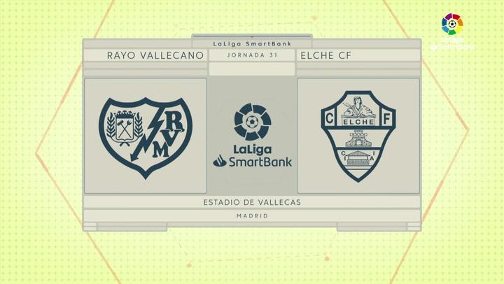 LaLiga SmartBank (J31): Resumen y goles del Rayo Vallecano 2-3 Elche