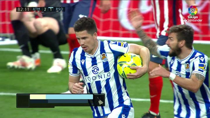 Gol de Zubeldia (2-1) en el Atlético 2-1 Real Sociedad