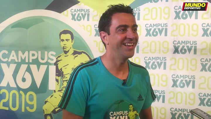 Xavi habló con MD el verano pasado y desveló que aún estaba verde para entrenar al Barça