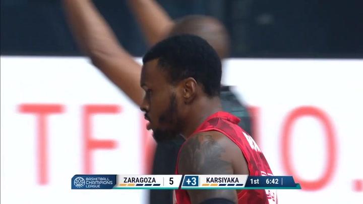 Summary of Casademont Zaragoza - Pinar Karsiyaka (79 - 84) of the Basketball Champions League