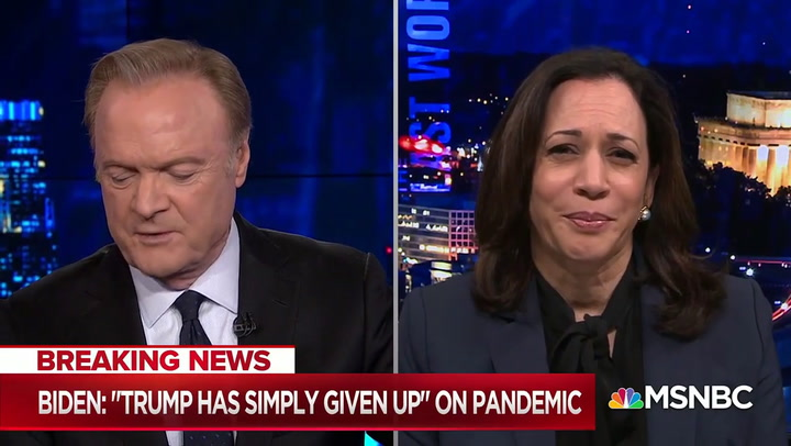 Kamala Harris: Trump's 'Narcissism' Won't Allow Him to Say 'Black Lives Matter'
