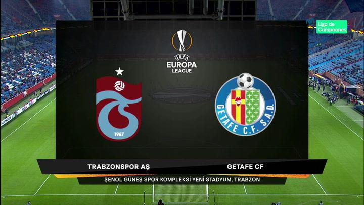 Europa League Resumen y Goles del Trabzonsport - Getafe