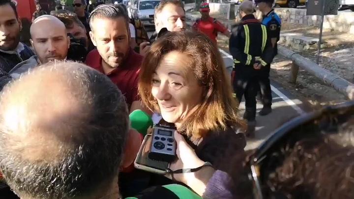 """La hermana de Blanca Fernández Ochoa, """"emocionada"""" ante la labor de los voluntarios"""
