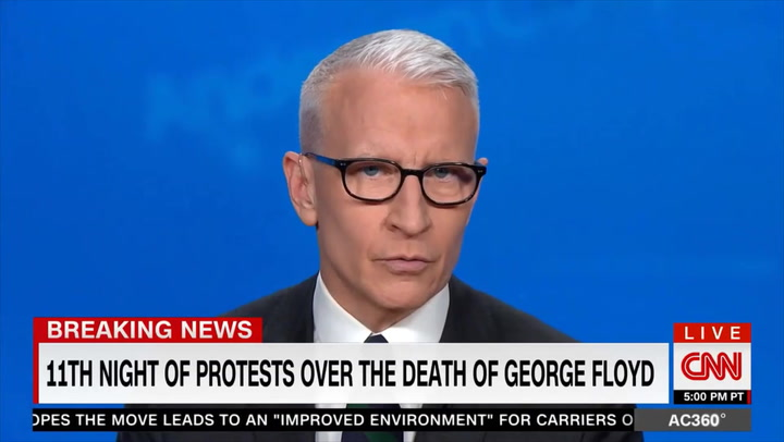 CNN's Cooper: Protesters Risking Getting COVID Because They 'Urgently' Want Change - Trump Ignored COVID Warnings at Presser