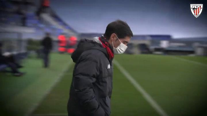 Último entrenamiento del Athletic Club previo a la semifinal de la Supercopa contra el Real Madrid