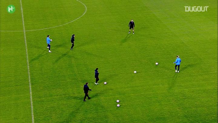 RB Leipzig treina antes de encarar o Istanbul Basaksehir na Champions