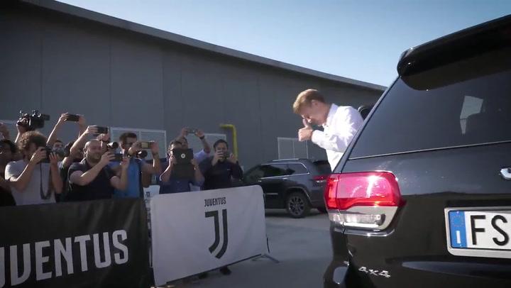 Así fue el primer día de De Ligt como jugador de la Juventus