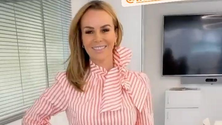 Amanda Holden looks chic in L.K.Bennett trousers