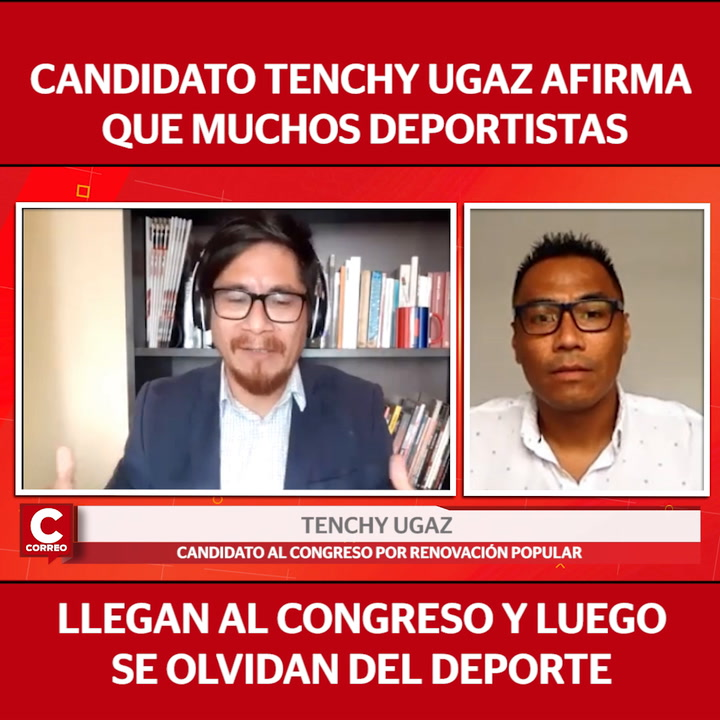 """Tenchy Ugaz, candidato al Congreso: """"Muchos deportistas llegan al Congreso y luego se olvidan del deporte"""""""