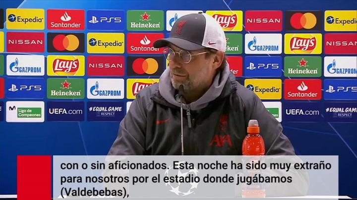 Jurgen Klopp culpa a la derrota del Liverpool por jugar en el campo de entrenamiento del Real Madrid