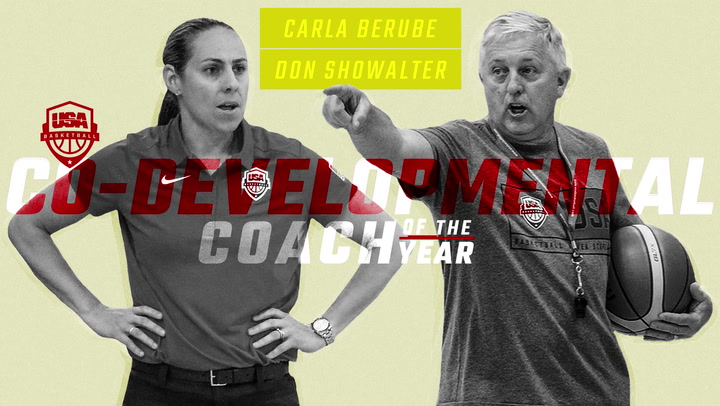 USA Basketball Co-Developmental Coaches of the Year - Carla Berube and Don Showalter