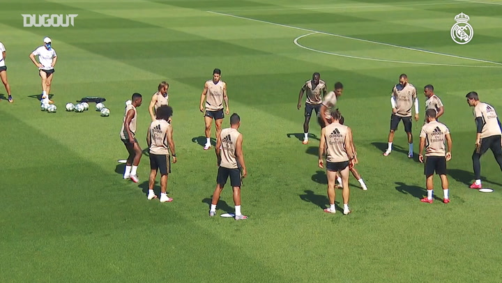 Real Madrid's last training session before hosting Mallorca