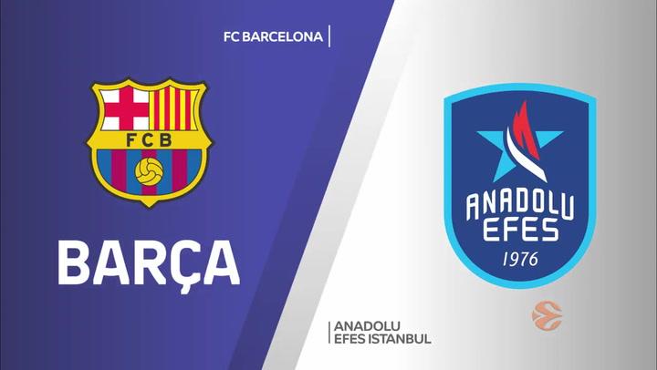 Euroliga: FC Barcelona - Anadolu Efes Istanbul