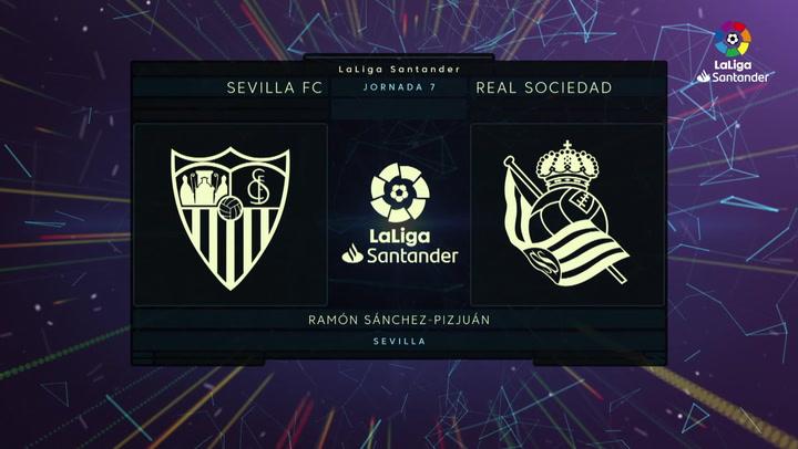 LaLiga (J7): Resumen y goles del Sevilla 3-2 Real Sociedad
