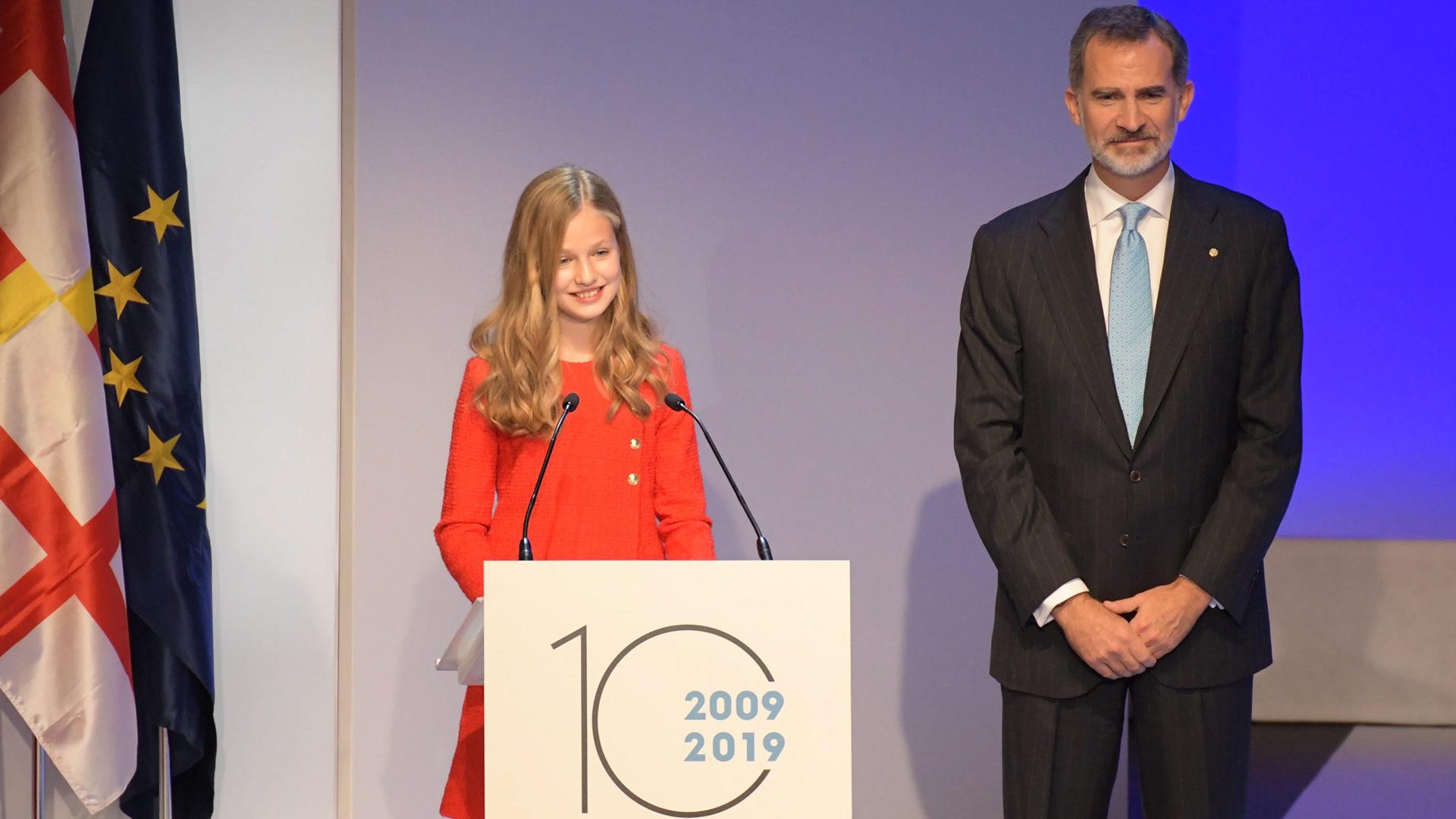 Discurso en Cataluña de la princesa Leonor, ¡en cuatro idiomas!