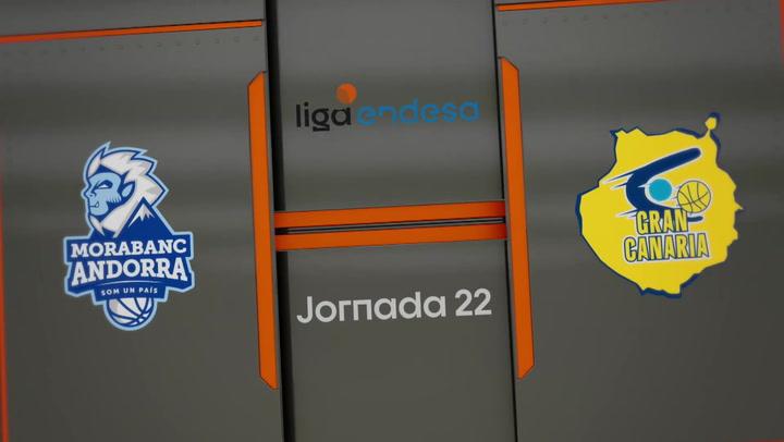 Resumen del MoraBanc Andorra - Herbalife Gran Canaria (60-70) de la Liga Endesa