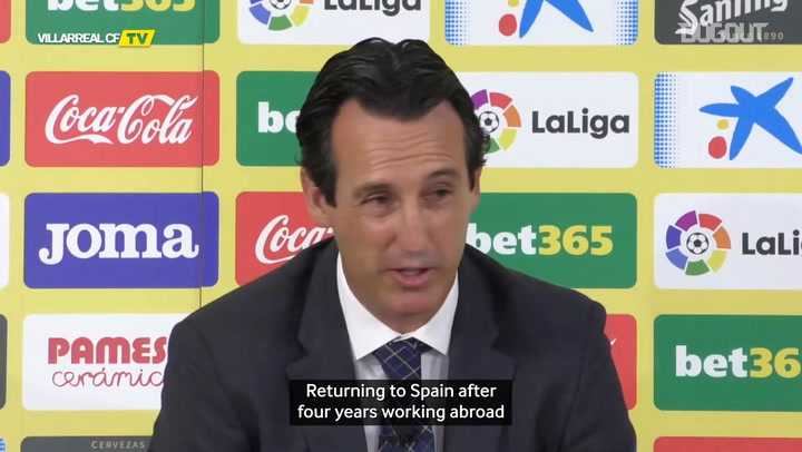 "Emery: ""I dream of winning a title with Villarreal"""