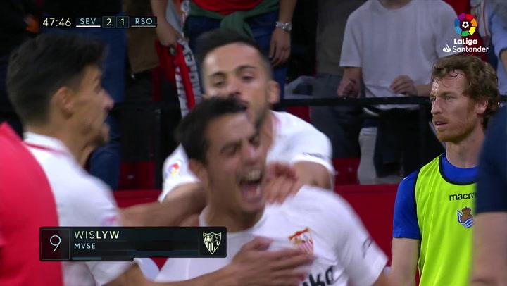 LaLiga: Sevilla-Real Sociedad. Gol de Ben Yedder (2-1)