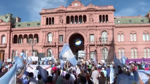 Numerosas protestas opositoras en Argentina contra 'vacunación vip'