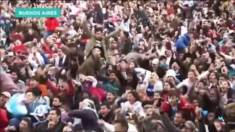 La recopilación más emocionante de festejos argentinos la hicieron en España