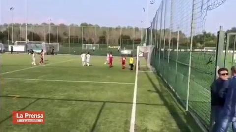 Hijo de Cristiano Ronaldo impresiona a su padre con golazos