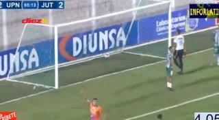 ¡GOL DE LA UPN! Kilmar Peña anota  3-1 ante el Juticalpa