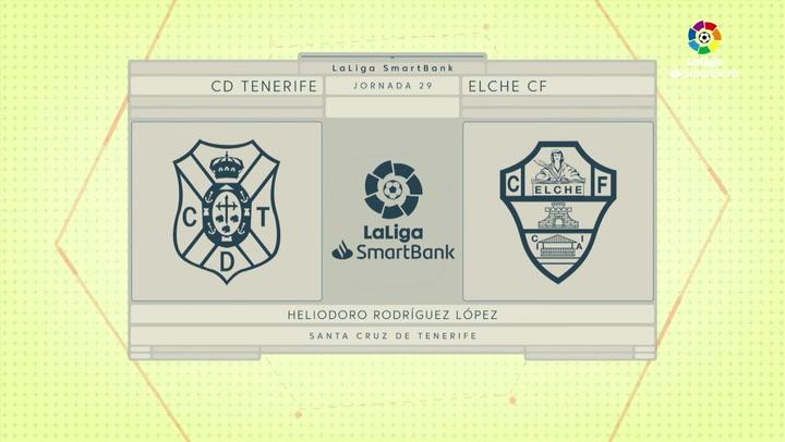 LaLiga SmartBank (J29): Resumen y gol del Tenerife 1-0 Elche