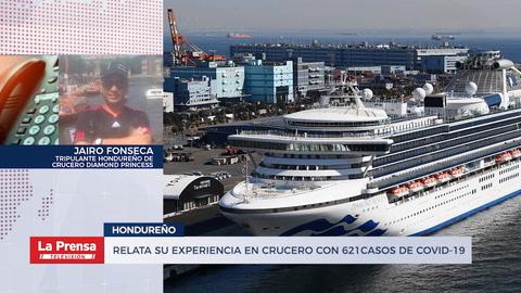 Relata su experiencia en crucero con 621 casos de Covid-19