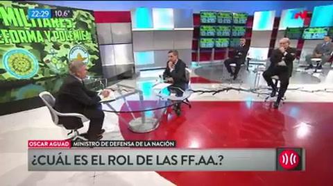 Aguad cuestionó a Carlotto y dijo que las Fuerzas Armadas tienen otro rol, no son la policía