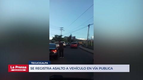 Se registra asalto a vehículo en Tegucigalpa