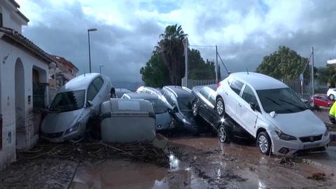 Los coletazos de la borrasca Gloria se ceban con Málaga