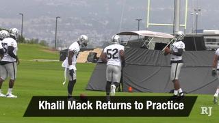 Vegas Nation: Khalil Mack Returns to Practice