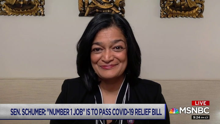 Rep. Jayapal: Dems Won the Senate, House, Presidency to Pass Covid Relief with $15 Minimum Wage