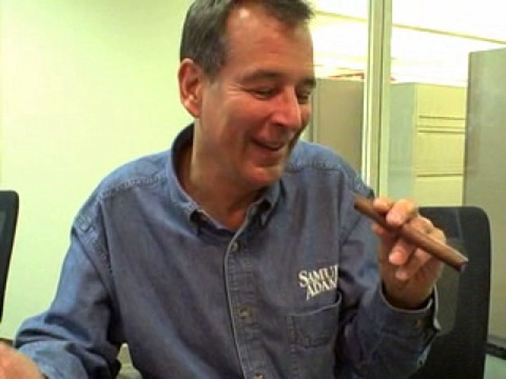 Jim Koch Smokes a Cigar