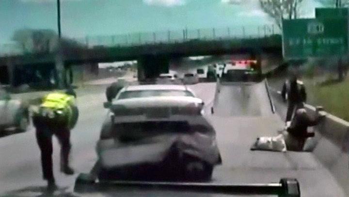 Skulle bli fratatt lappen – torpederte politibil