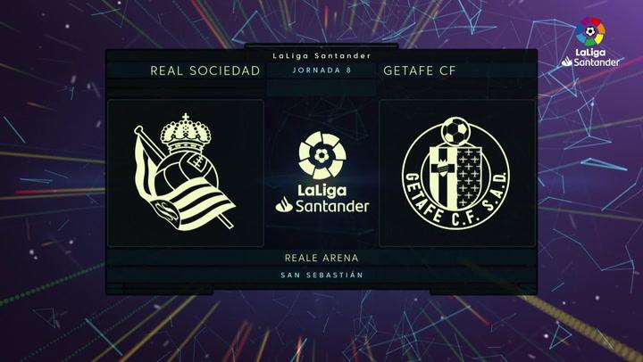 LaLiga (J8): Resumen y goles del Real Sociedad 1-2 Getafe