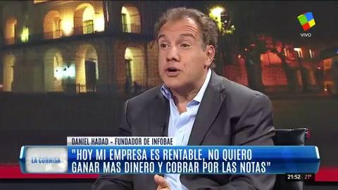Hadad sostuvo que Cristina es funcional al gobierno nacional