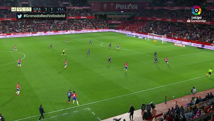 Gol de Carlos Fernández (2-1) en el Granada 2-1 Valladolid