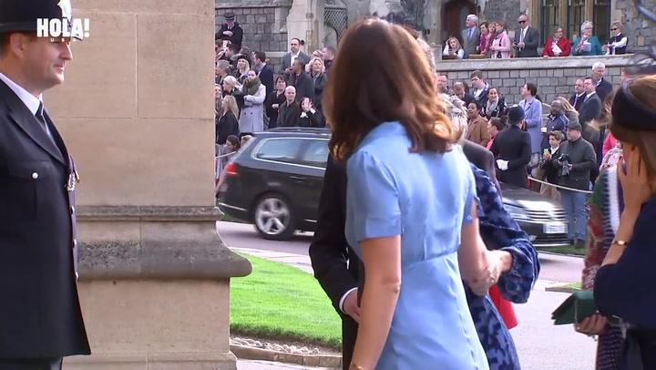 Cressida Bonas arrives at Princess Eugenie and Jack Brooksbank\'s royal wedding